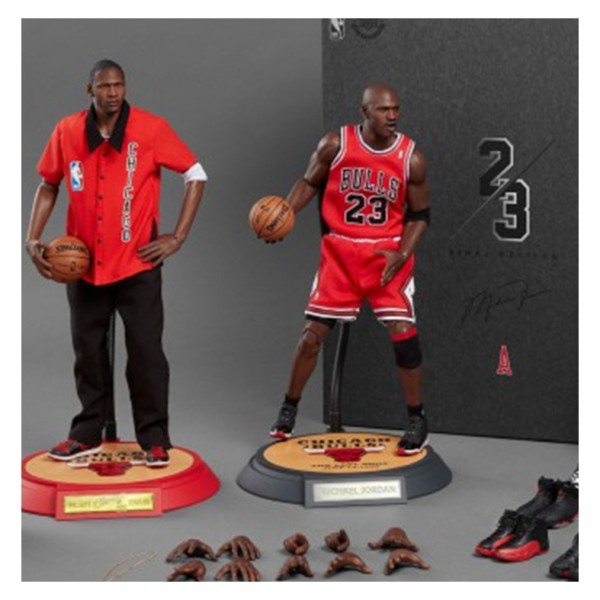 ENTERBAY : 1/6 - NBA COLLECTION MICHAEL JORDAN ACTION FIGURE- AWAY (FINAL LIMITED EDITION)